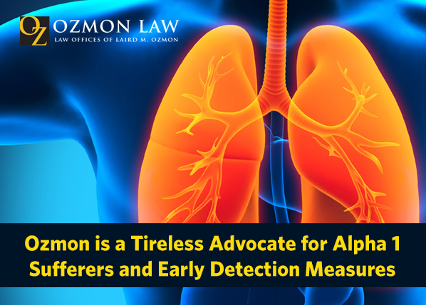 Ozmon Law advocate of alpha-1 antitrypsin disorder